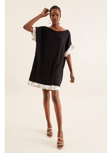 Quincey Oversize Elbise Siyah